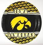 "Iowa Hawkeyes 9"" Dinner Paper Plates"