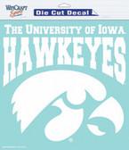 """Iowa Hawkeyes 8""""x8"""" Die-Cut Decal"""