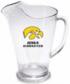 Iowa Hawkeyes 64 oz. Crystal Clear Plastic Pitcher