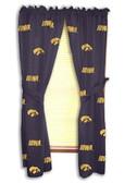 "Iowa Hawkeyes 42"" x 84"" Curtain Panels"
