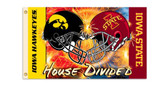 Iowa Hawkeyes / Iowa State Cyclones Rivalry 3'x5' Flag 1588995992
