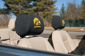 Iowa Hawkeyes   Headrest Covers Set Of 2