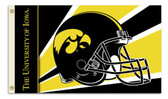 Iowa Hawkeyes   3 Ft. x 5 Ft. Flag w/Grommets - Helmet Design
