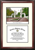 Indiana University, Bloomington Scholar Framed Lithograph with Diploma