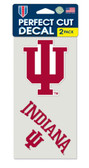 Indiana Hoosiers Set of 2 Die Cut Decals