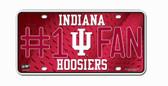Indiana Hoosiers License Plate - #1 Fan