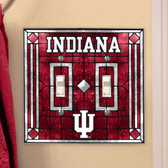 Indiana Hoosiers Double Lightswitch Cover