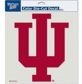 "Indiana Hoosiers Die-Cut Decal - 8""x8"" Color"