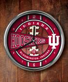 Indiana Hoosiers Chrome Clock