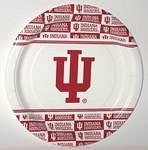 "Indiana Hoosiers 9"" Dinner Paper Plates"