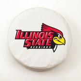 Illinois State Redbirds White Tire Cover, Small