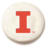 Illinois Fighting Illini White Tire Cover, Small