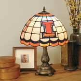 Illinois Fighting Illini Tiffany Table Lamp
