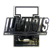Illinois Fighting Illini Silver Auto Emblem