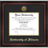 Illinois Fighting Illini Gold Embossed Medallion Diploma Frame