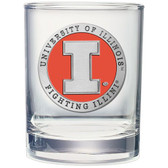 Illinois Fighting Illini Double Old Fashioned Glass Set