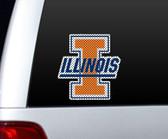 Illinois Fighting Illini Die-Cut Window Film - Large