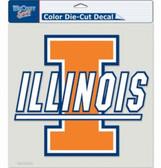 "Illinois Fighting Illini Die-Cut Decal - 8""x8"" Color"