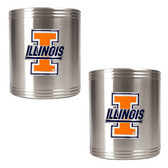 Illinois Fighting Illini Can Holder Set