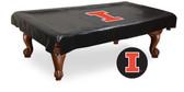Illinois Fighting Illini Billiard Table Cover