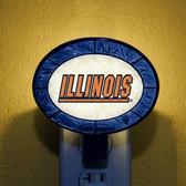 Illinois Fighting Illini Art Glass Nightlight
