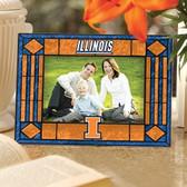 Illinois Fighting Illini Art Glass Horizontal Picture Frame