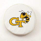 Georgia Tech Yellow Jackets White Tire Cover, Large