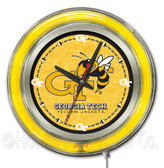 Georgia Tech Yellow Jackets Neon Clock