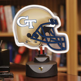 Georgia Tech Yellow Jackets Neon Helmet Desk Lamp