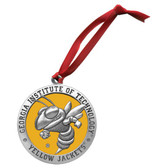 Georgia Tech Yellow Jackets Mascot Logo Ornament