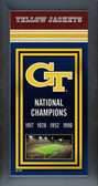 Georgia Tech Yellow Jackets Framed Championship Banner