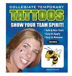 Georgia Tech Yellow Jackets Face Tattoos