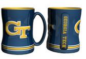 Georgia Tech Yellow Jackets Coffee Mug - 15oz Sculpted