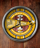 Georgia Tech Yellow Jackets Chrome Clock