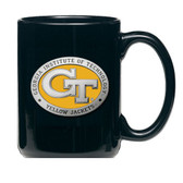 Georgia Tech Yellow Jackets Black Coffee Mug Set