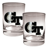 Georgia Tech Yellow Jackets 2pc Rocks Glass Set