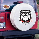 Georgia Bulldogs White Tire Cover, Small