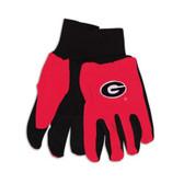 Georgia Bulldogs Two Tone Gloves - Adult
