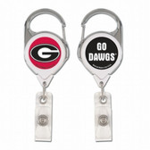 Georgia Bulldogs Retractable Premium Badge Holder