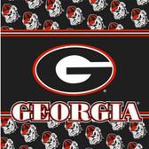 Georgia Bulldogs Luncheon Napkins