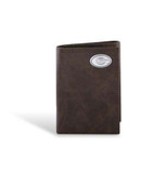 Georgia Bulldogs Leather Wrinkle Brown Trifold Wallet