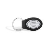 Georgia Bulldogs Leather Black Key Chain