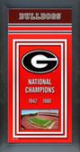Georgia Bulldogs Framed Championship Banner