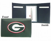 Georgia Bulldogs Embroidered Leather Tri-Fold Wallet