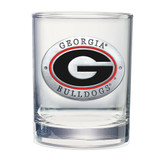 Georgia Bulldogs Double Old Fashioned Glass Set