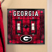 Georgia Bulldogs Double Lightswitch Cover