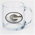 Georgia Bulldogs Clear Coffee Mug Set