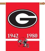 "Georgia Bulldogs Championship Years 28""x40"" Banner w/ Pole Sleeve"