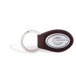 Georgia Bulldogs Brown Leather Key Chain