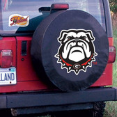 Georgia Bulldogs Black Tire Cover, Large TCBKGeorgiaBullDogLG